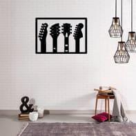 Decorazione da parete Chitarra Nero 48x34 cm