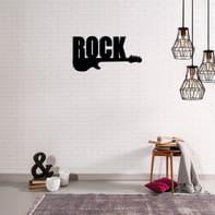 Decorazione da parete Rock Nero 50x25 cm