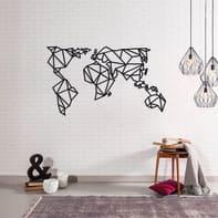 Decorazione da parete World Map Large Metal 140x80 cm