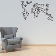 Decorazione da parete Mondo Nero 100x58 cm