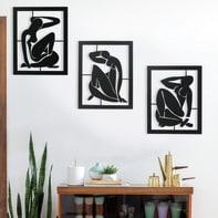 Decorazione da parete Metal Ispirazione Matisse 120x32 cm