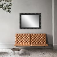 Specchio a parete rettangolare Forata nero 50x70 cm