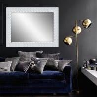Specchio a parete rettangolare Fiorenza bianco 50x70 cm