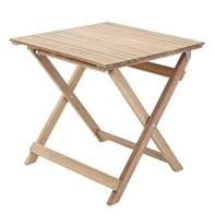 Tavolino da giardino quadrata Solis NATERIAL con piano in legno L 50 x P 50 cm