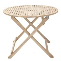 Tavolo da giardino tondo Solis NATERIAL con piano in acacia x P 90 cm Ø 90 cm