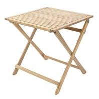Tavolo da giardino quadrato Solis NATERIAL con piano in acacia L 70 x P 70 cm
