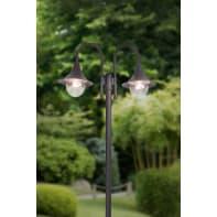 Lampione Berna H210 cm in alluminio, nero, E27 2x MAX 100W IP44 BRILLIANT