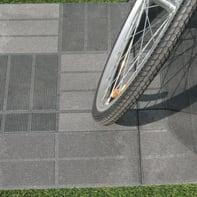 Piastrelle ad incastro Wpc in composito 40 x 40 cm Sp 45 mm,  grigio antracite