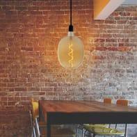 Lampadina decorativa LED, Siluro, E27, Ovale, Fumé, Luce calda, 6W=210LM (equiv 4 W), 270°