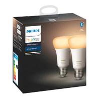 Set di 2  lampadine LED, HUE AMBIENCE BLUETOOTH, E27, Goccia, Opaco, CCT, 9W=806LM (equiv 60 W), 150° , PHILIPS HUE