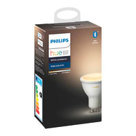 Lampadina smart lighting LED, HUE AMBIENCE BLUETOOTH, GU10, Faretto, Trasparente, CCT, 5W=350LM (equiv 50 W), 42° , PHILIPS HUE
