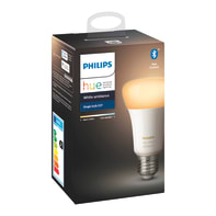 Lampadina smart lighting LED, HUE AMBIENCE BLUETOOTH, E27, Goccia, Opaco, CCT, 9W=806LM (equiv 60 W), 150° , PHILIPS HUE