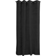 Tenda Suedine nera anelli 140x280 cm