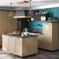 Cucina in kit DELINIA praga rovere L 255 cm