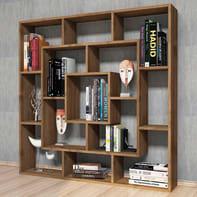 Libreria Frame L 125 x P 20 x H 125 cm legno