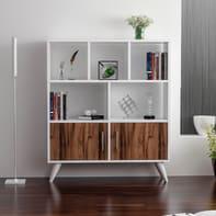Libreria Ducky 4 ripiani L 90 x P 22 x H 105 cm bianco
