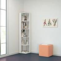 Libreria Seth 5 ripiani L 34 x P 34 x H 161 cm bianco