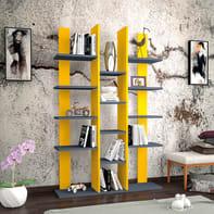 Libreria Misu 9 ripiani L 98.6 x P 22 x H 150 cm