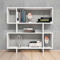 Libreria Hera L 100 x P 20 x H 100 cm bianco