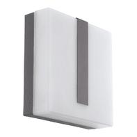Applique Torrazza LED integrato in acciaio, antracite, 14W 1400LM IP44 EGLO
