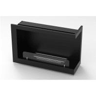 Caminetto a bioetanolo per pavimento inserto con apertura a destra 3.5 L nero