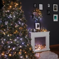Catena luminosa 250 lampadine LED bianco caldo e bianco freddo e dorato TWINKLY 2000 cm