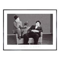 Stampa incorniciata Laurel & Hardy 60.7x80.7 cm