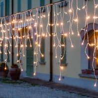 Tenda luminosa 186 lampadine led bianco caldo H 70 x L 420 cm