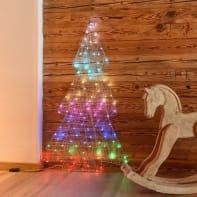 Albero 100 lampadine multicolore H 105 cm