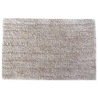 Tappeto bagno rettangolare Essential moon in cotone silver 60.0 x 40.0 cm