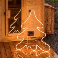 Albero 600 lampadine bianco caldo H 115 cm