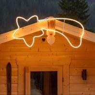 Stella luminosa 360 lampadine bianco caldo H 45 cm