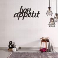 Decorazione da parete Metal Bon Appetit 50x30 cm