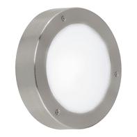 Plafoniera Vento LED integrato in acciaio inox, acciaio, 5.4W 410LM IP44 EGLO