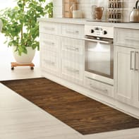 Passatoia Full legno , marrone, 55x280