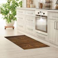 Tappeto cucina antiscivolo Full legno marrone 55x100 cm