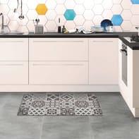 Passatoia Relax ceramic , grigio medio, 45x75