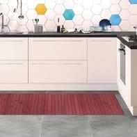 Tappeto cucina antiscivolo Open rosso 50x180 cm