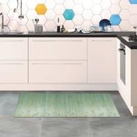 Tappeto cucina antiscivolo Open verde 50x110 cm