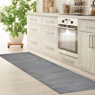 Tappeto cucina antiscivolo Full legno grigio 55x230 cm