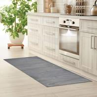Tappeto cucina antiscivolo Full legno grigio 55x180 cm