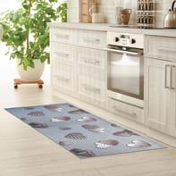 Tappeto cucina antiscivolo Full cuore grigio 55x180 cm