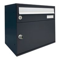 Cassetta postale formato A4, grigio antracite, L 40 x P 27 x H 11 cm