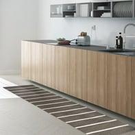 Tappeto cucina antiscivolo Rigato grigio medio 50x300 cm