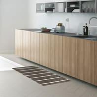 Tappeto cucina antiscivolo Rigato grigio medio 45x75 cm