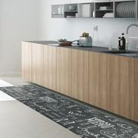 Tappeto cucina antiscivolo Blackboard grigio e tortora 50x300 cm