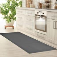 Tappeto cucina antiscivolo Sandy grigio medio 57x135 cm