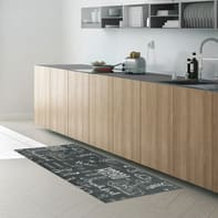 Tappeto cucina antiscivolo Blackboard grigio e tortora 50x100 cm
