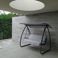 Dondolo Lugano grigio / argento 3 posti