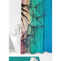 Tenda doccia Dandelion in poliestere verde acqua L 180 x H 200 cm